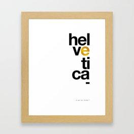Helvetica Typoster #1 Framed Art Print
