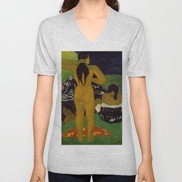 """Paul Gauguin """"Tahitian Women Bathing"""" Unisex V-Neck"""