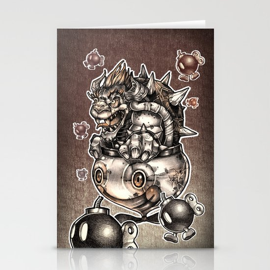 BOMBS AWAY BOWSER Stationery Cards