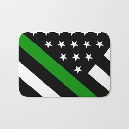 The Thin Green Line Flag Bath Mat