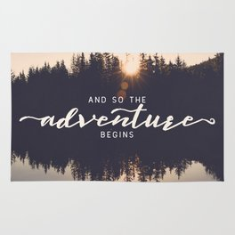 And So the Adventure Begins II Rug