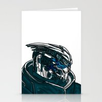 garrus Stationery Cards featuring Garrus by Cat Milchard