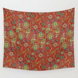 Bursts of India Jacobean - Victorio Road Series Wall Tapestry