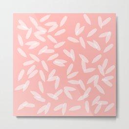 Falling petals (Pink) Metal Print