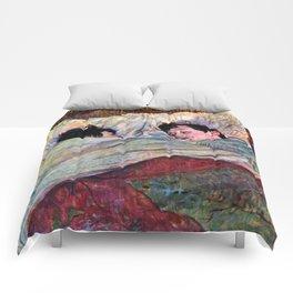 """Henri de Toulouse-Lautrec """"The Bed"""" Comforters"""