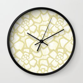 Brom yellow (in repeat) Wall Clock