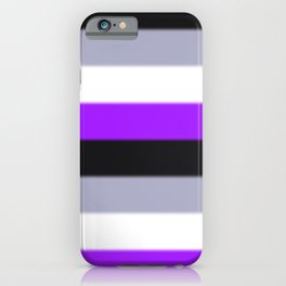 Asexual Pride Flag v2 iPhone Case