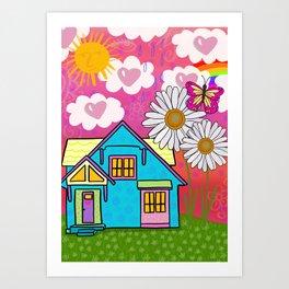 Heart House Art Print