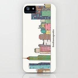 Indianapolis skyline iPhone Case