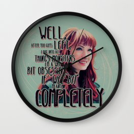 Obsessed - Charlie Bradbury Supernatural Wall Clock