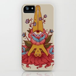 Sirsasana (Headstand) - First of the 12 basic Yoga poses iPhone Case