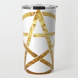 golden Pentagram Travel Mug