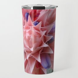 Plant Bromeliad Pink Purple Travel Mug