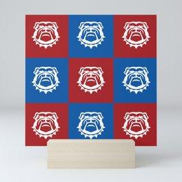 Red White and Blue Nine Bulldog Cares Mini Art Print