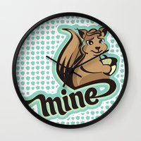 squirrel Wall Clocks featuring Squirrel by VessDSign
