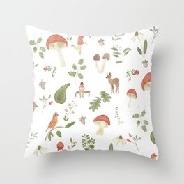 Forest Dream Pattern Throw Pillow