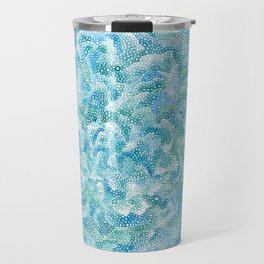 blue and green bubbles Travel Mug