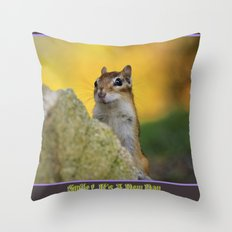 Smile, it's a new day Throw Pillow