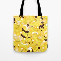 banana Tote Bags featuring Banana by Ornaart
