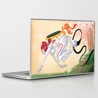 okami Laptop & iPad Skins featuring VIDEO GIRLS: Okami by Marques Cannon