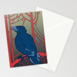 Crow habits. Stationery Cards