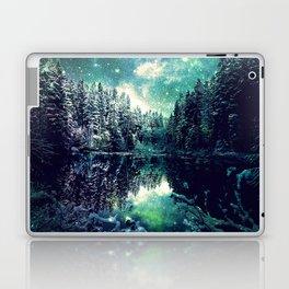 A Cold Winter's Night : Spearmint Teal Green Winter Wonderland Laptop & iPad Skin