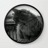 garfield Wall Clocks featuring Garfield by Jessica Nicole Pacheco