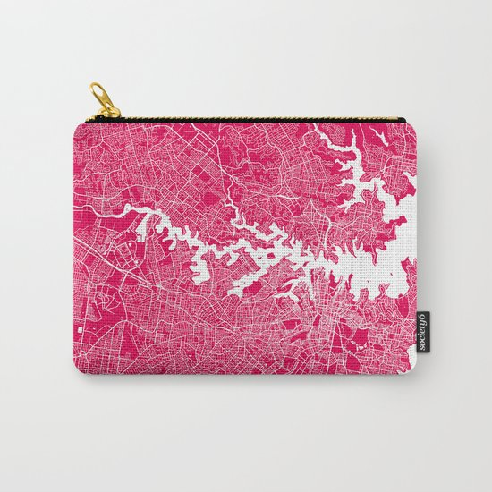 Sydney map raspberry Carry-All Pouch