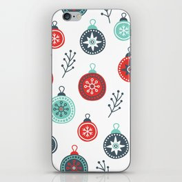 Winter pattern iPhone Skin
