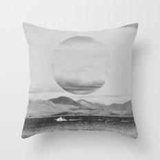 Gray Waterside Throw Pillow