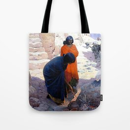 """William Leigh Western Art """"Baking Pottery"""" Tote Bag"""