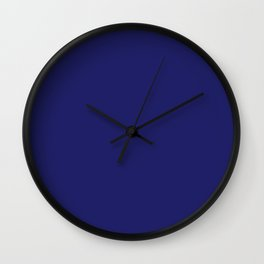 Classic Navy Blue Wall Clock