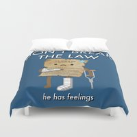 law Duvet Covers featuring Breaking The Law by Jake Friedman