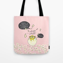 #Hatched Pink Tote Bag