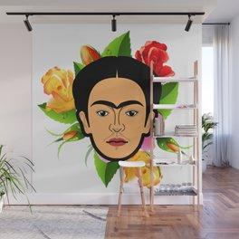 Frida face Wall Mural