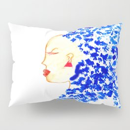 Blue Cleopatra Pillow Sham