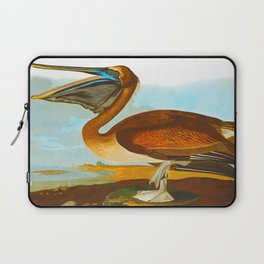 Brown Pelican Illustration Laptop Sleeve