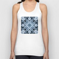 snowflake Tank Tops featuring Snowflake by Steve Purnell