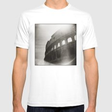 { Colosseum } White MEDIUM Mens Fitted Tee