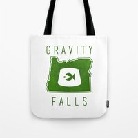 fez Tote Bags featuring Gravity Falls - Grunkle Stan's Fez (White) by pondlifeforme