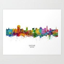 Vassar New York Skyline Art Print