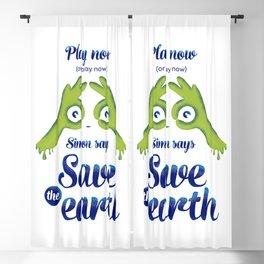 Simon says... Save the earth Blackout Curtain