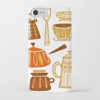 mid century modern iPhone & iPod Cases featuring Mid Century Modern Kitchen by Van Huynh
