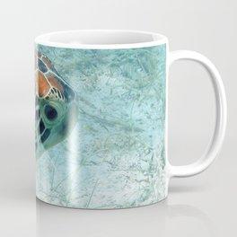 Watercolor Turtle, Green Turtle 28, St John, USVI Coffee Mug