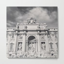 Trevi Fountain, black & white photography of Rome, fine art architecture, italian architectural love Metal Print