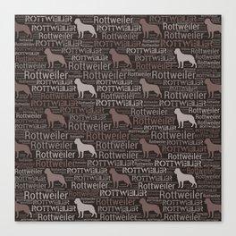 Rottweiler  - Metzgerhund Pattern Canvas Print
