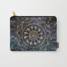 Elegant Gold Mandala Blue Galaxy Design Carry-All Pouch