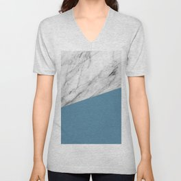Marble and Niagara Color Unisex V-Neck