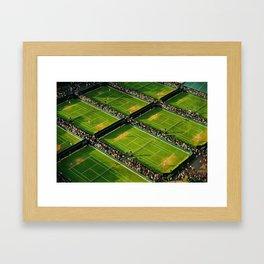 Wimbledon grass courts Framed Art Print