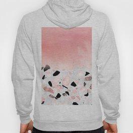 Modern abstract watercolor and marble design Hoody